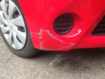 Bumper Scrape in Sawbridgeworth