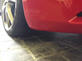 Mobile paint repair on Ferrari