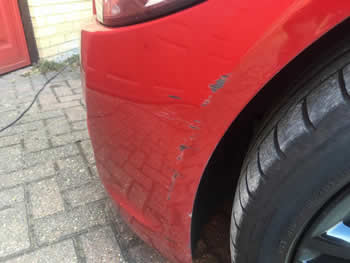 Scratch on front bumper Sawbridgeworth