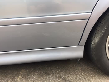 Dented lower door and rear wheel arch Herts