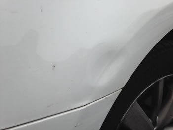 Dent on Golf Stansted