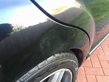 Dent on Rear Wing North London